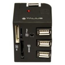 Talius hub 3 puertos USB 2.0+ lector TAL-EU-148 black (Espera 3 dias)
