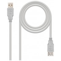 CABLE USB 2.0, TIPO A/M-A/H, BEIGE, 1.0M