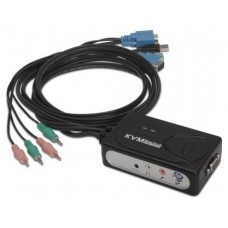 DATA SWITCH AUTOMATICO NANOCABLE 2PC 1U KVM USB CABLE
