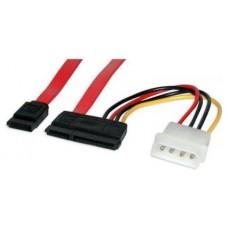 Nanocable - Cable SATA Datos+Alimentacion de 0,5m+0,2m (Espera 3 dias)