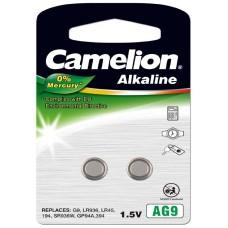 Pila Botón Alcalina LR45 1.5V 0% Mercurio (2 pcs) Camelion