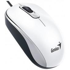 Genius DX-110 USB Óptico 1000DPI Ambidextro Color blanco ratón