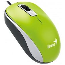 Genius DX-110 USB Óptico 1000DPI Ambidextro Verde ratón