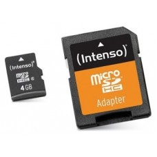 Intenso 3413450 Micro SD clase 10 4GB c/adapt+LPI