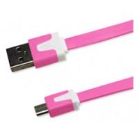 Cable Plano Micro USB 1m Rosa