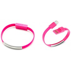 Pulsera Cable Carga/Datos Lightning Rosa
