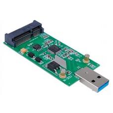 Tarjeta Adaptador/Conversor Mini PCI-E mSATA a USB 3.0