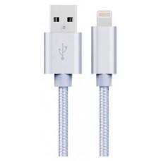 Cable USB a Lightning 8 Pines (Carga & Transferencia) Metal Plata 1m Biwond