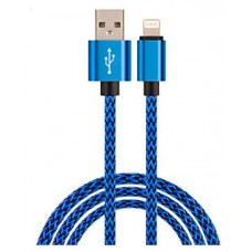 Cable USB a Lightning 8 Pines (Carga & Transferencia) Metal Azul 1m Biwond