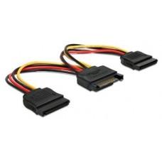 CABLE ALIMENTACION HDD SATA 15PIN A 2X HDD SATA 15PIN