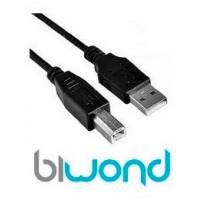 Cable USB 2.0 Impresora 4.5m BIWOND