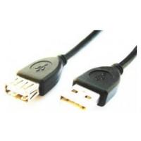 Gembird 3m USB 2.0 A M/FM 3m USB A USB A Macho Hembra Negro cable USB