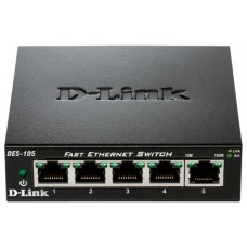 SWITCH NO GESTIONABLE D-LINK DES-105 5P ETHERNET