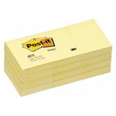 NOTAS ADHESIVAS POST-IT 3M 38X51 PACK12