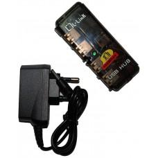 HUB USB 4 PUERTOS CON ALIMENTACION LL-UH-404L (Espera 3 dias)